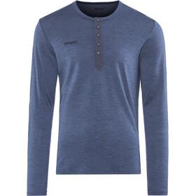 Bergans Henley Wool T-shirt Homme, navy melange